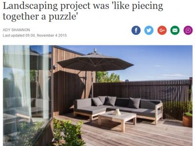 Extensive decking and outdoor furniture make the most of the sunny side of the home. Photo by Carys Montheath