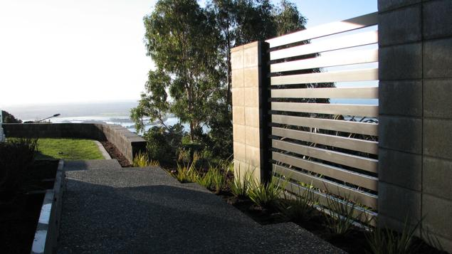 Completed slats with hill view over the ocean